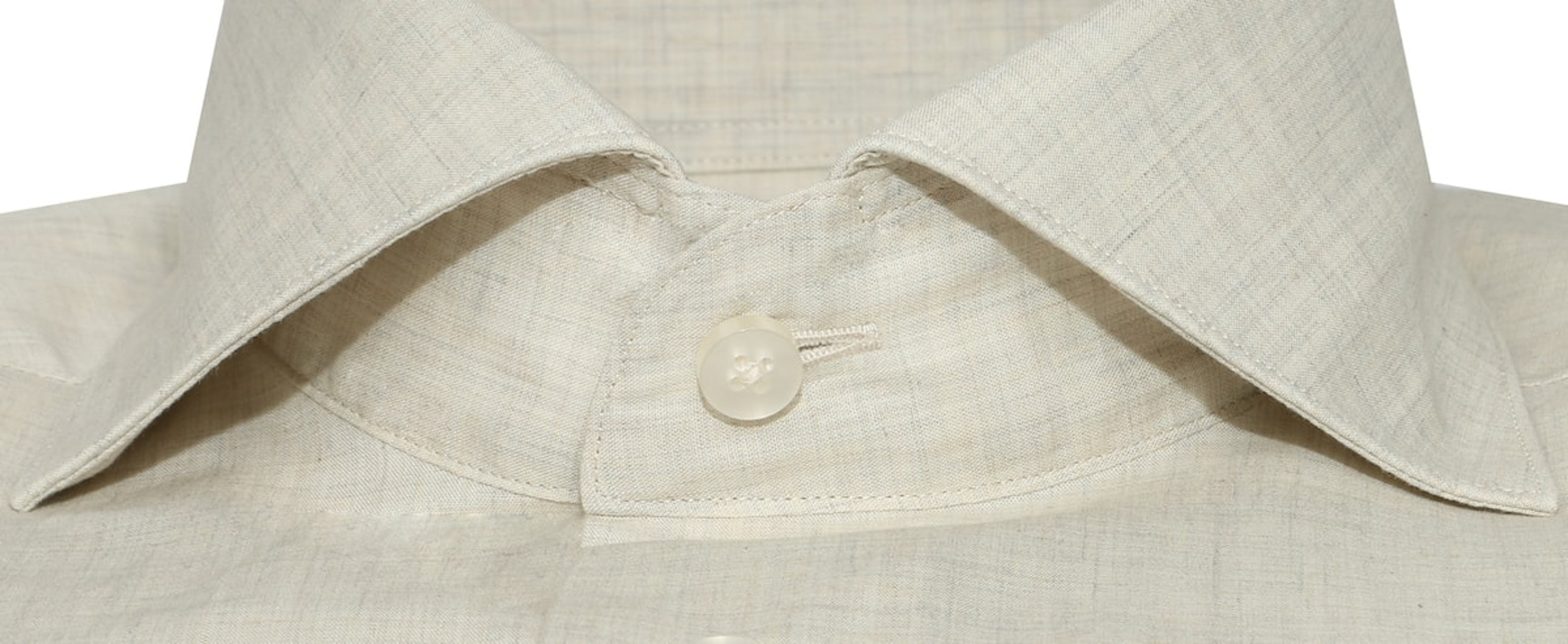 InStitchu Collection The Obelisk Cream Linen Shirt