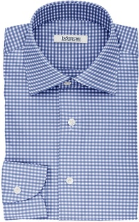InStitchu Collection The Orwell Blue Gingham Check Non-Iron Cotton Shirt