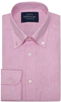 InStitchu Collection The Pink Linen Blend Button Down Shirt
