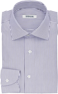 InStitchu Collection The Pope Navy and White Striped Cotton Shirt