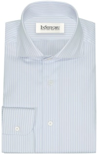 InStitchu Collection The Rockaway Blue Striped Shirt