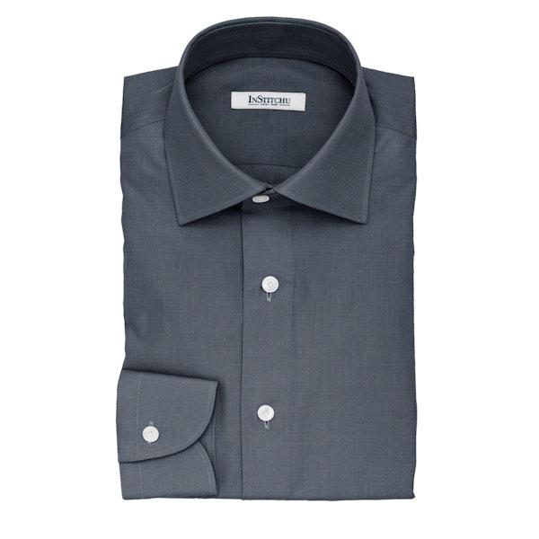 InStitchu Collection The Roosevelt Dark Blue Denim Cotton Shirt