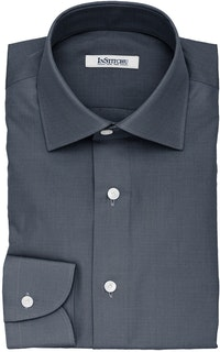 InStitchu Collection The Roosevelt Dark Blue Denim Cotton Shirt