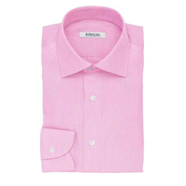 InStitchu Collection The Saki Pink Pincheck Cotton Shirt