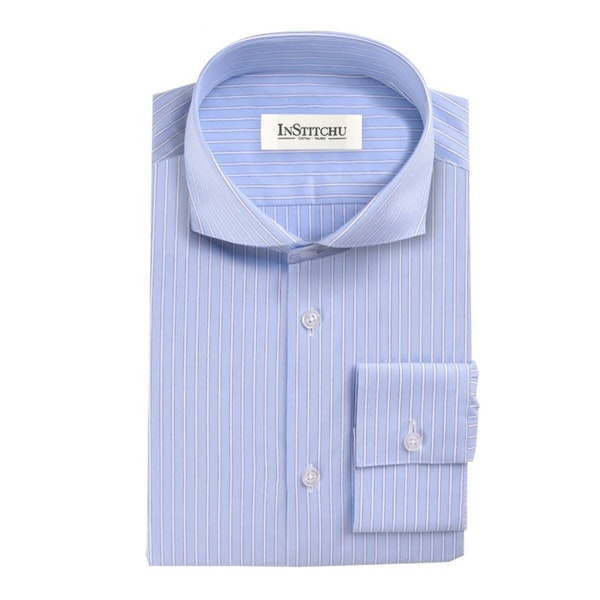 InStitchu Collection The Sandy Blue Striped Shirt