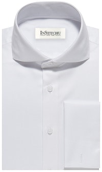 InStitchu Collection The Sapelo White Herringbone Shirt