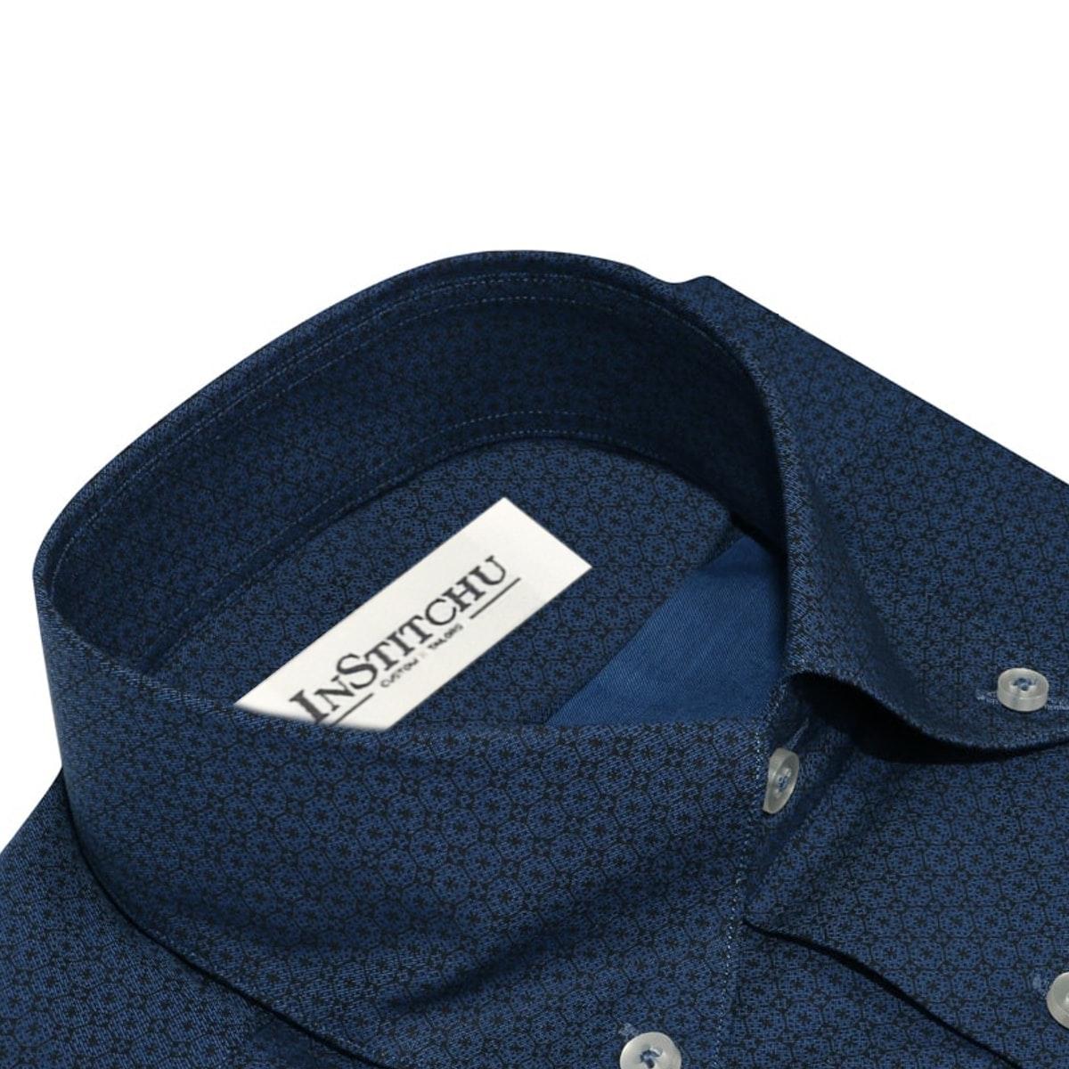 InStitchu Collection The Shark Blue Print Shirt