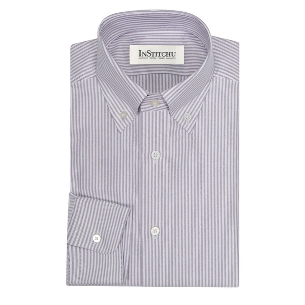 InStitchu Collection The Shell Purple Striped Shirt