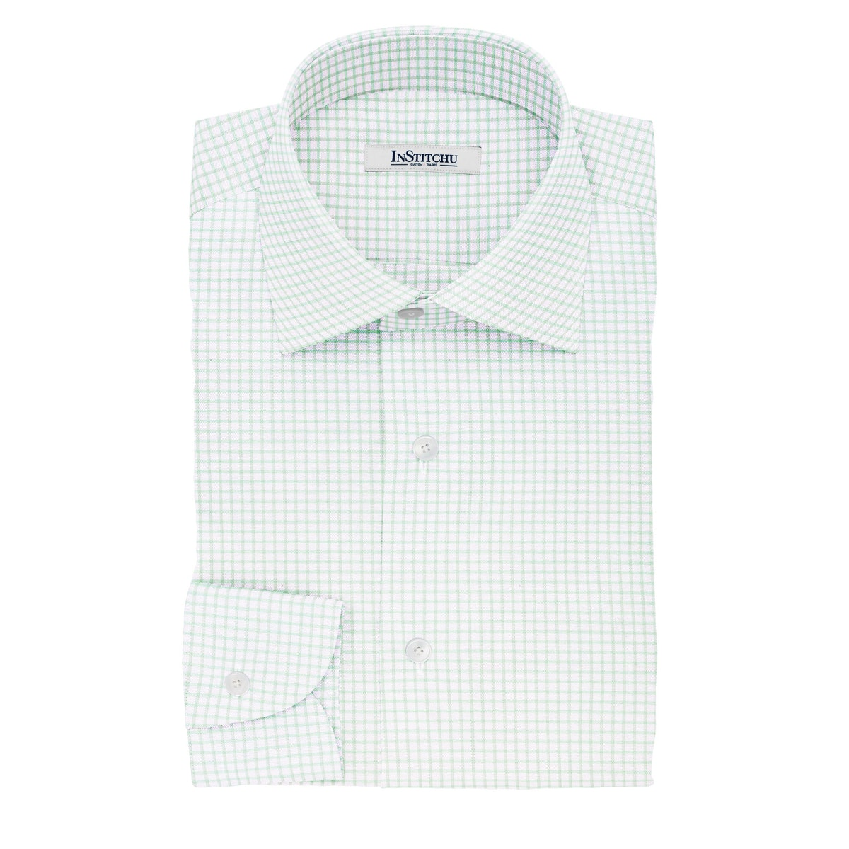 InStitchu Collection The Shelley Green and White Check Cotton Shirt