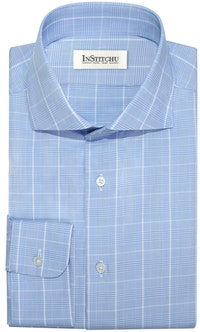 InStitchu Collection The Solana Blue Check Shirt