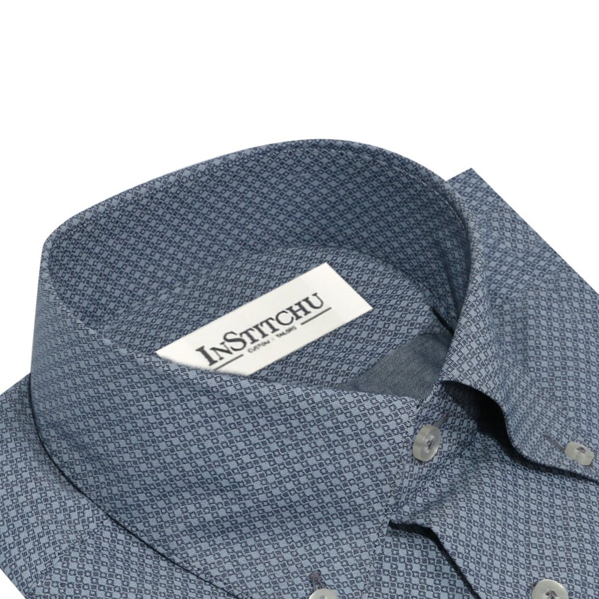 InStitchu Collection The Southside Grey Print Shirt