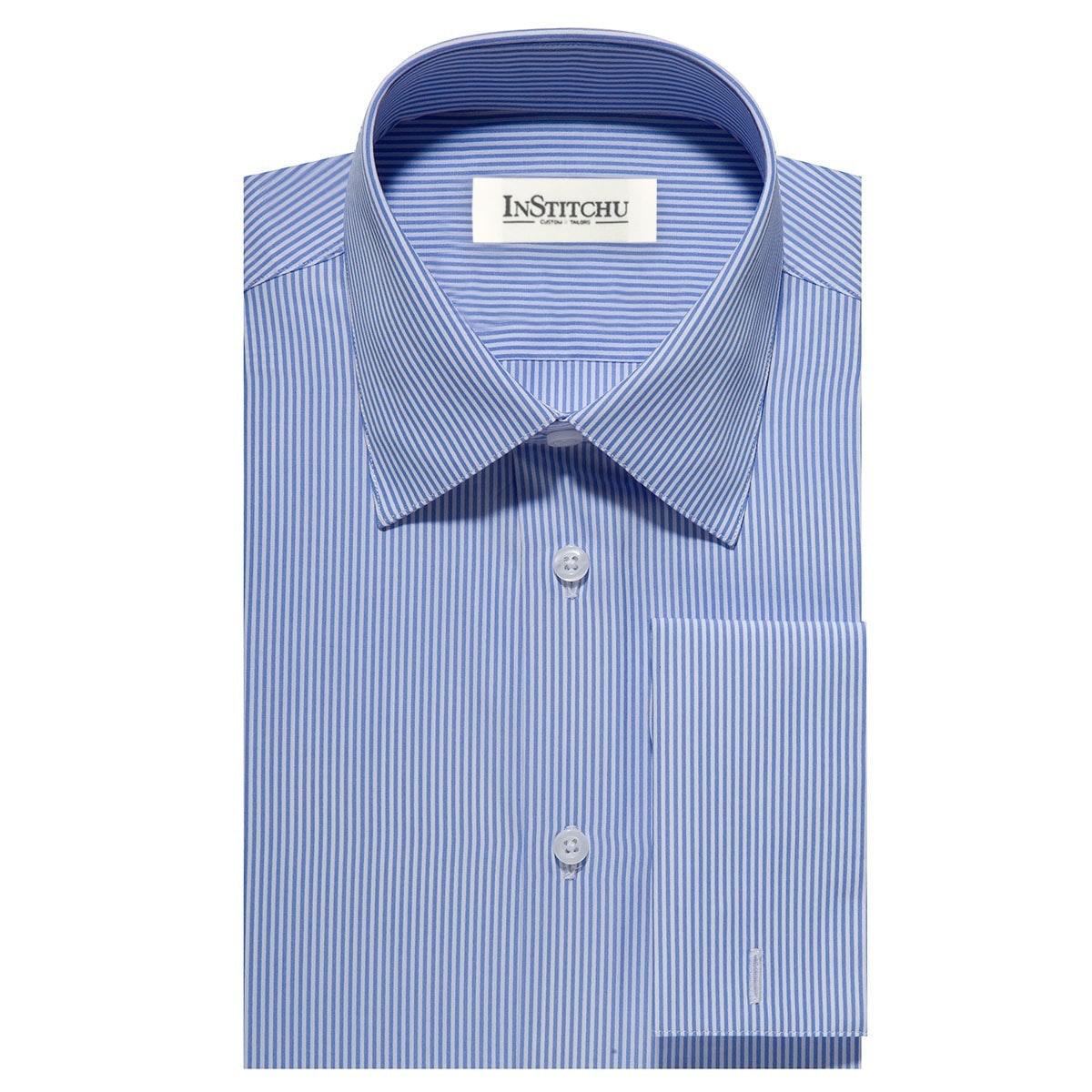 InStitchu Collection The Southwick Blue Pinstripe Shirt