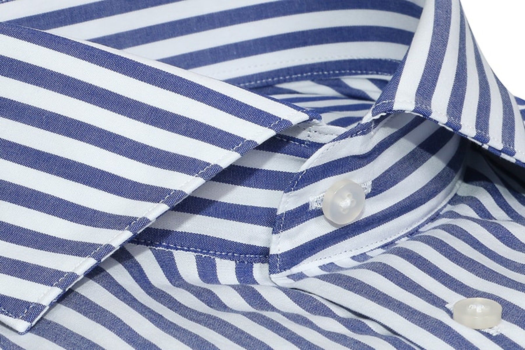InStitchu Collection The Springdale Blue and White Striped Cotton Business Shirt