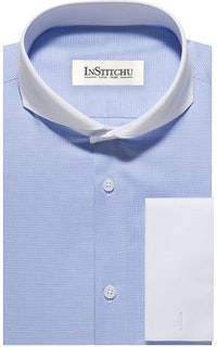 InStitchu Collection The Springmaid Blue Houndstooth Shirt