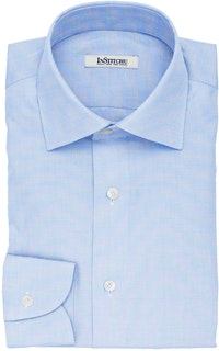 InStitchu Collection The Stevenson Blue Textured Cotton Shirt