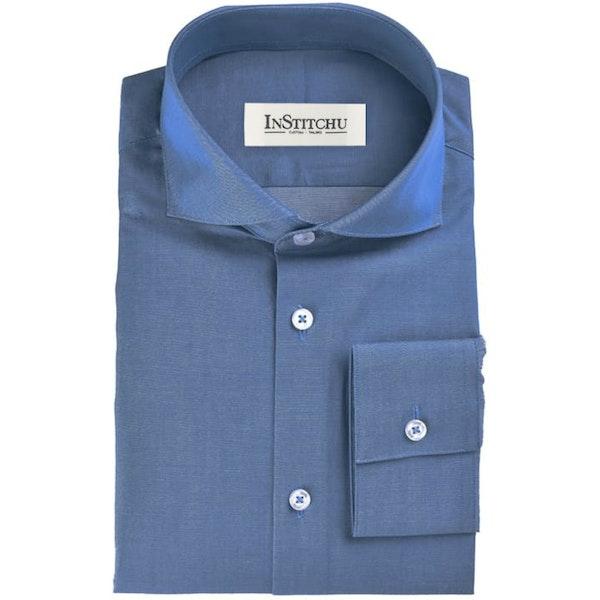 InStitchu Collection The Sunset Blue Chambray Shirt