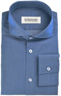 InStitchu Collection The Sunset Blue Chambray Shirt