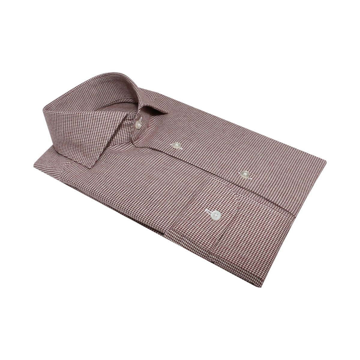 InStitchu Collection The Taboga Burgundy and White Shirt