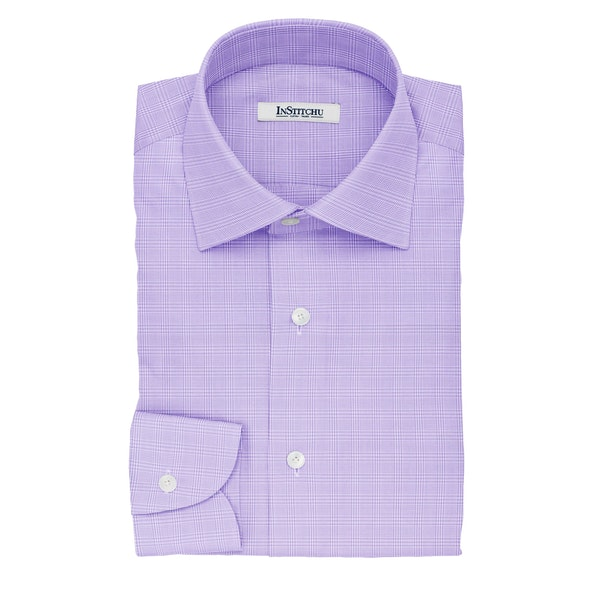 InStitchu Collection The Tagore Violet Glen Plaid Cotton Shirt