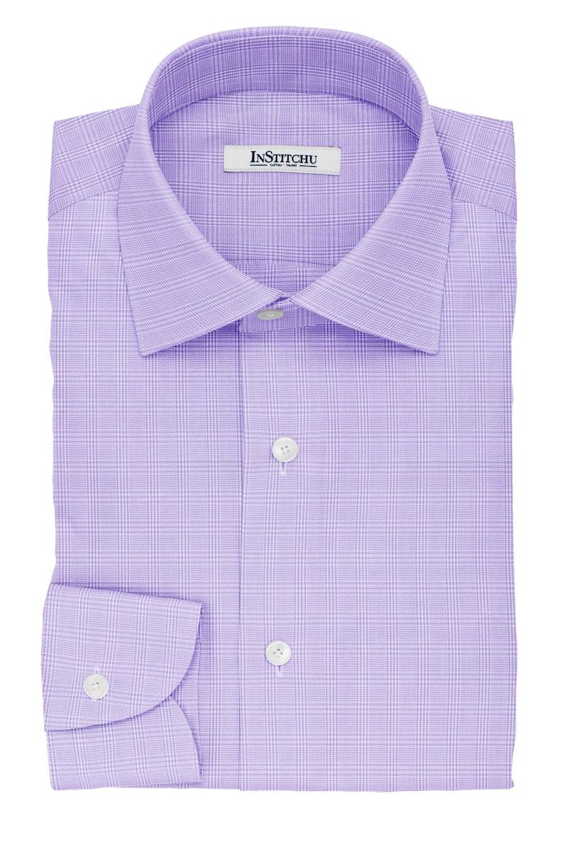 InStitchu Collection The Tagore Violet Glen Plaid Cotton Shirt