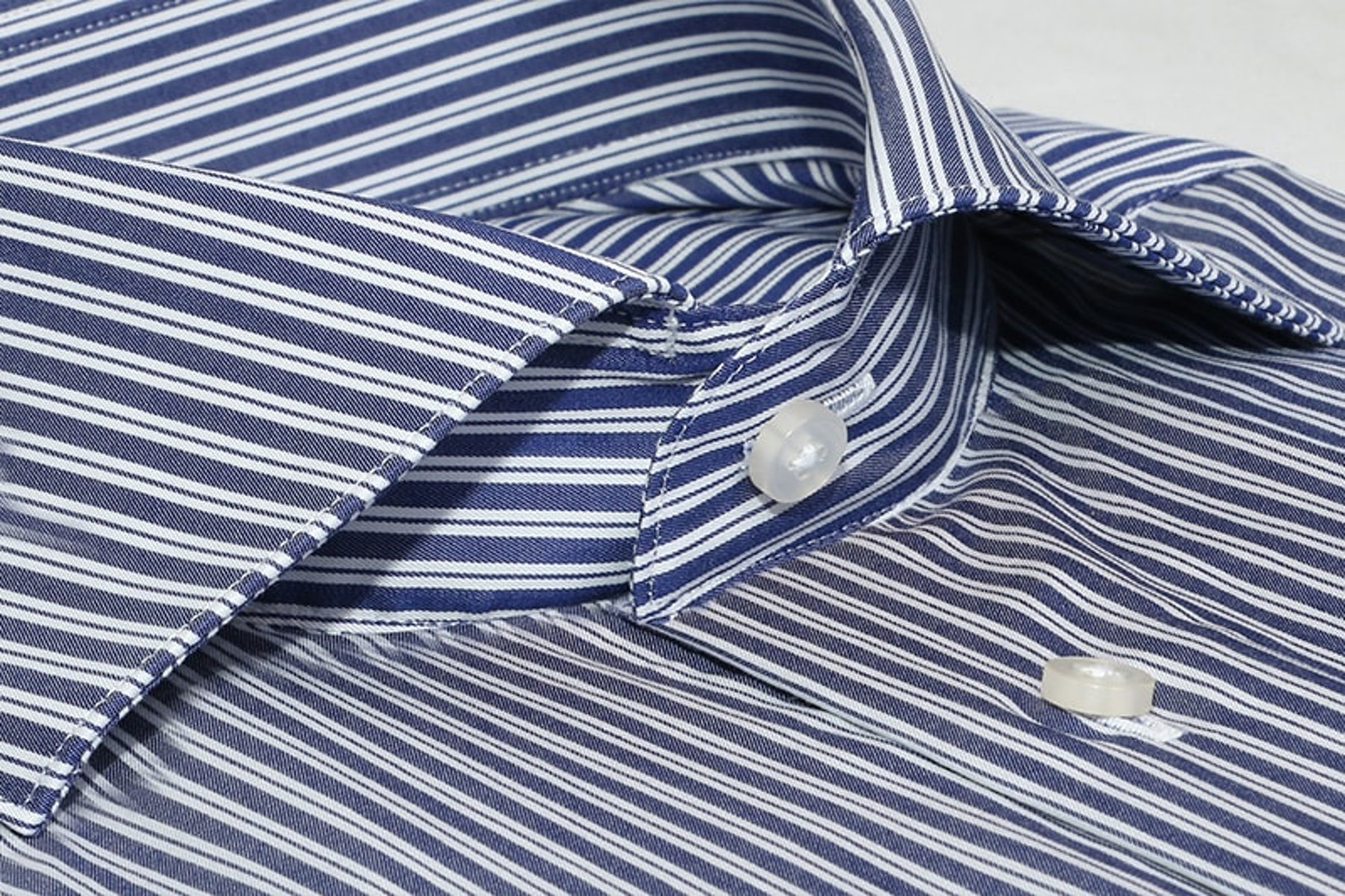InStitchu Collection The Trinity Blue Stripe Shirt
