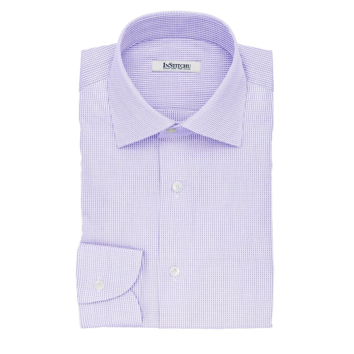 InStitchu Collection The Twain Violet Pincheck Cotton Shirt