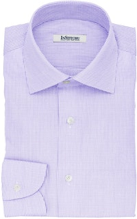 InStitchu Collection The Twain Violet Pincheck Cotton Shirt