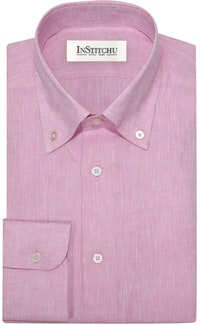 InStitchu Collection The Vatia Pink Linen Shirt