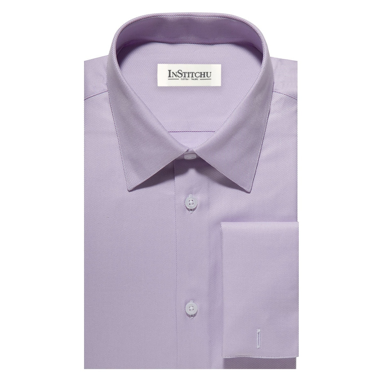 InStitchu Collection The Vilano Purple Twill Shirt