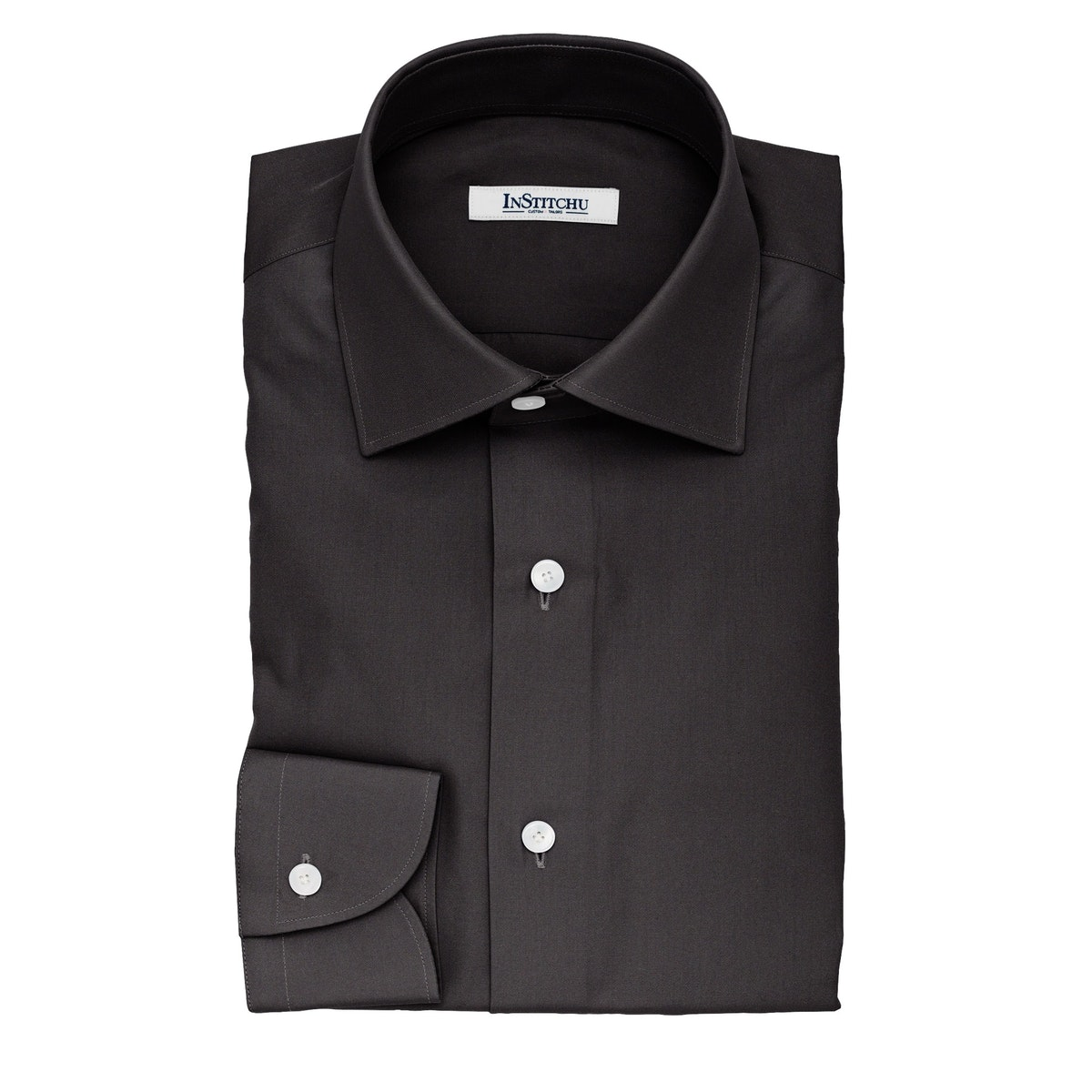 InStitchu Collection The Wallace Black Twill Cotton Shirt