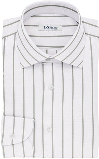 InStitchu Collection The Walters White and Green Pinstripe Cotton Blend Shirt