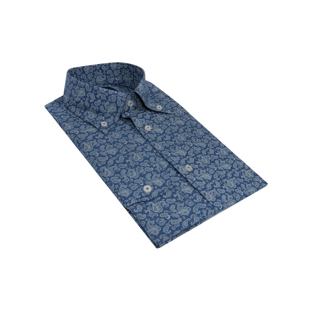 InStitchu Collection The Wanda Blue Paisley Shirt