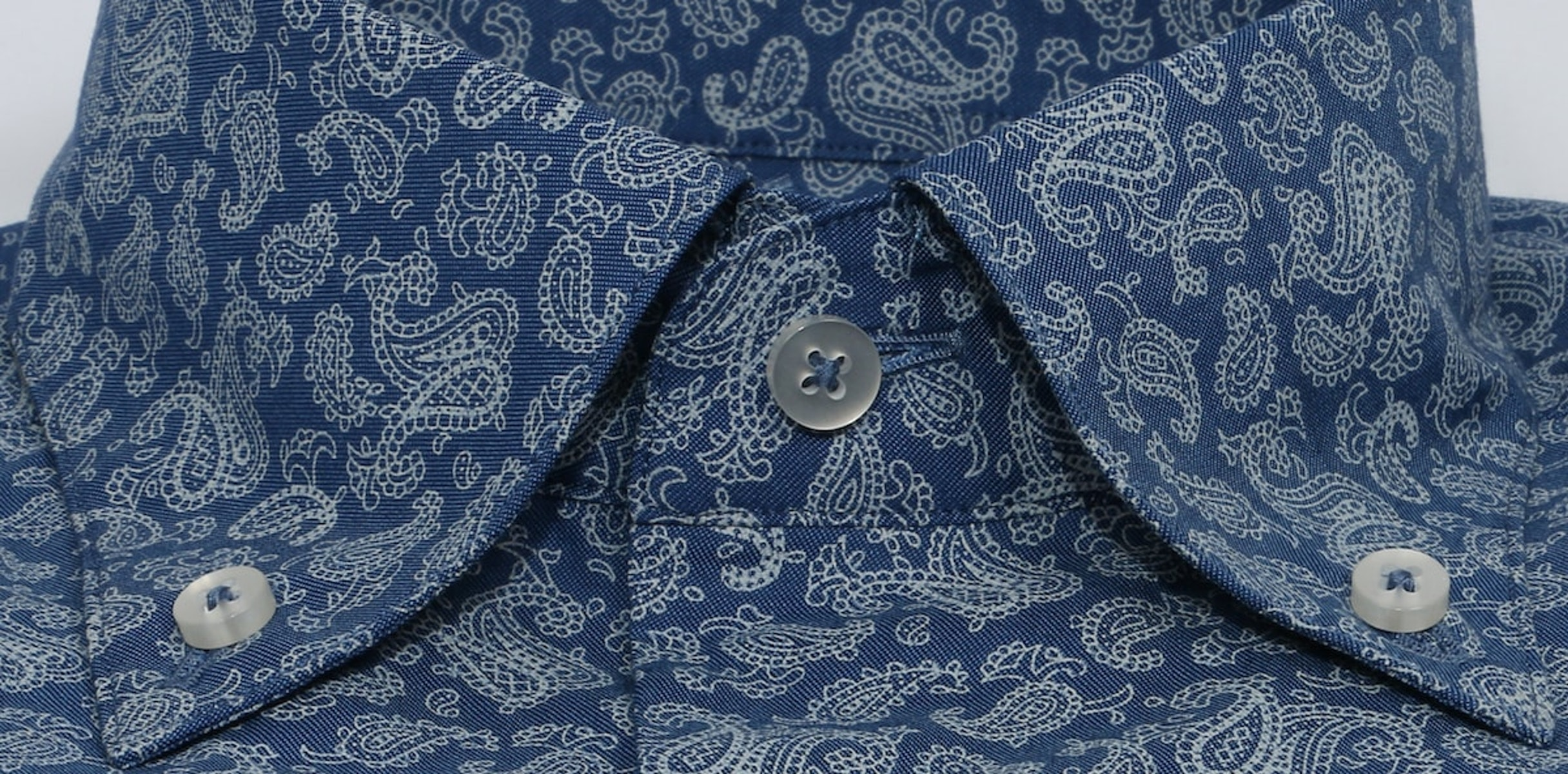 InStitchu Collection The Wanda Blue Paisley Shirt