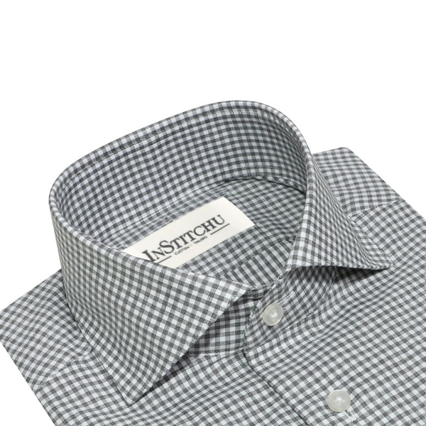 InStitchu Collection The Whale Grey Check Shirt