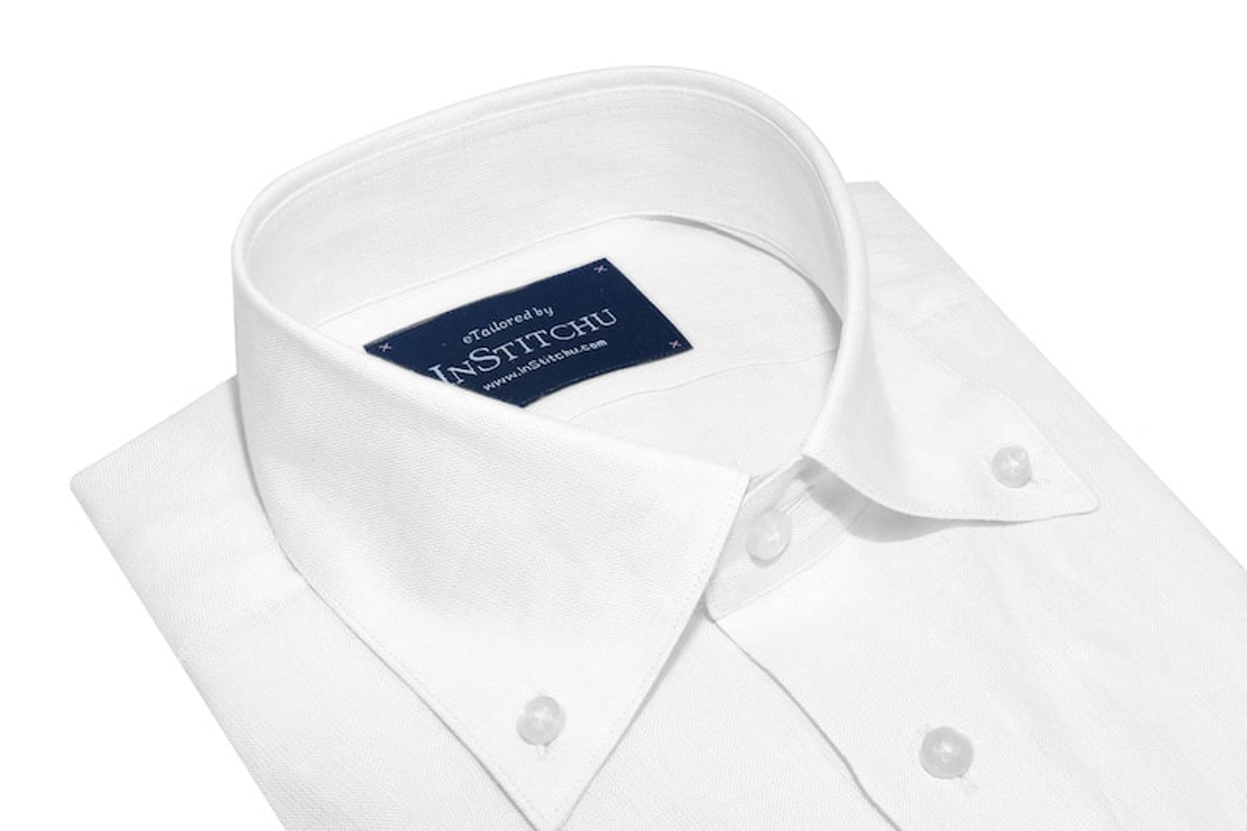 InStitchu Collection The White Button Down Linen Shirt