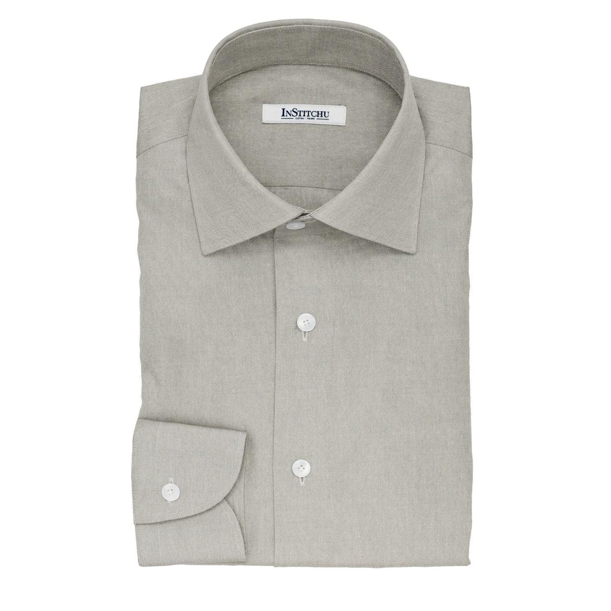 InStitchu Collection The Whitman Grey Cotton Shirt