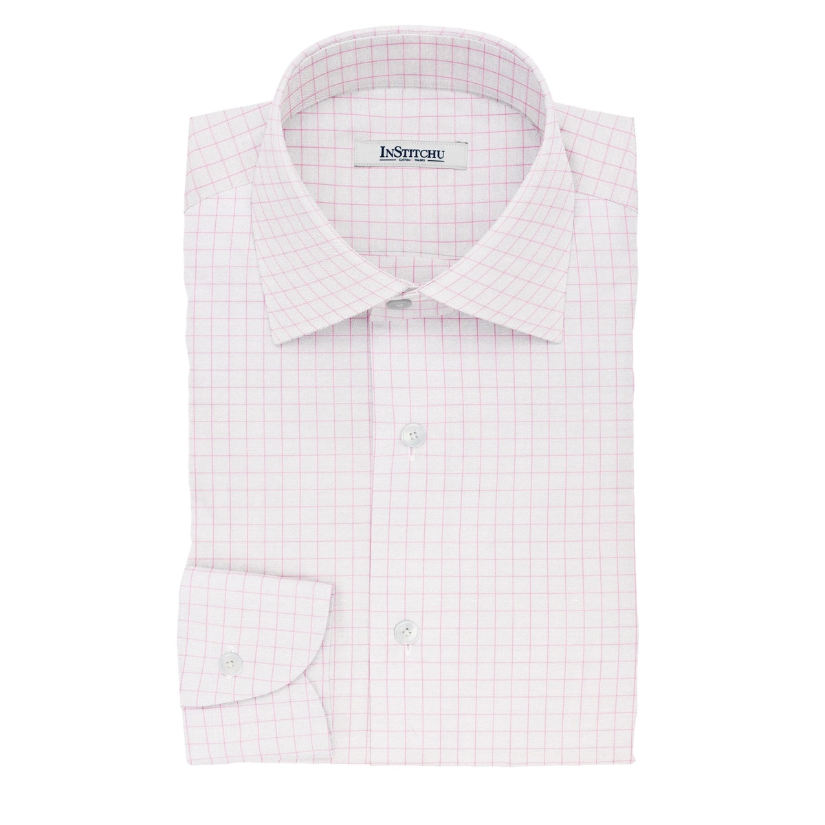 InStitchu Collection The Wilde Pink Windowpane Cotton Shirt