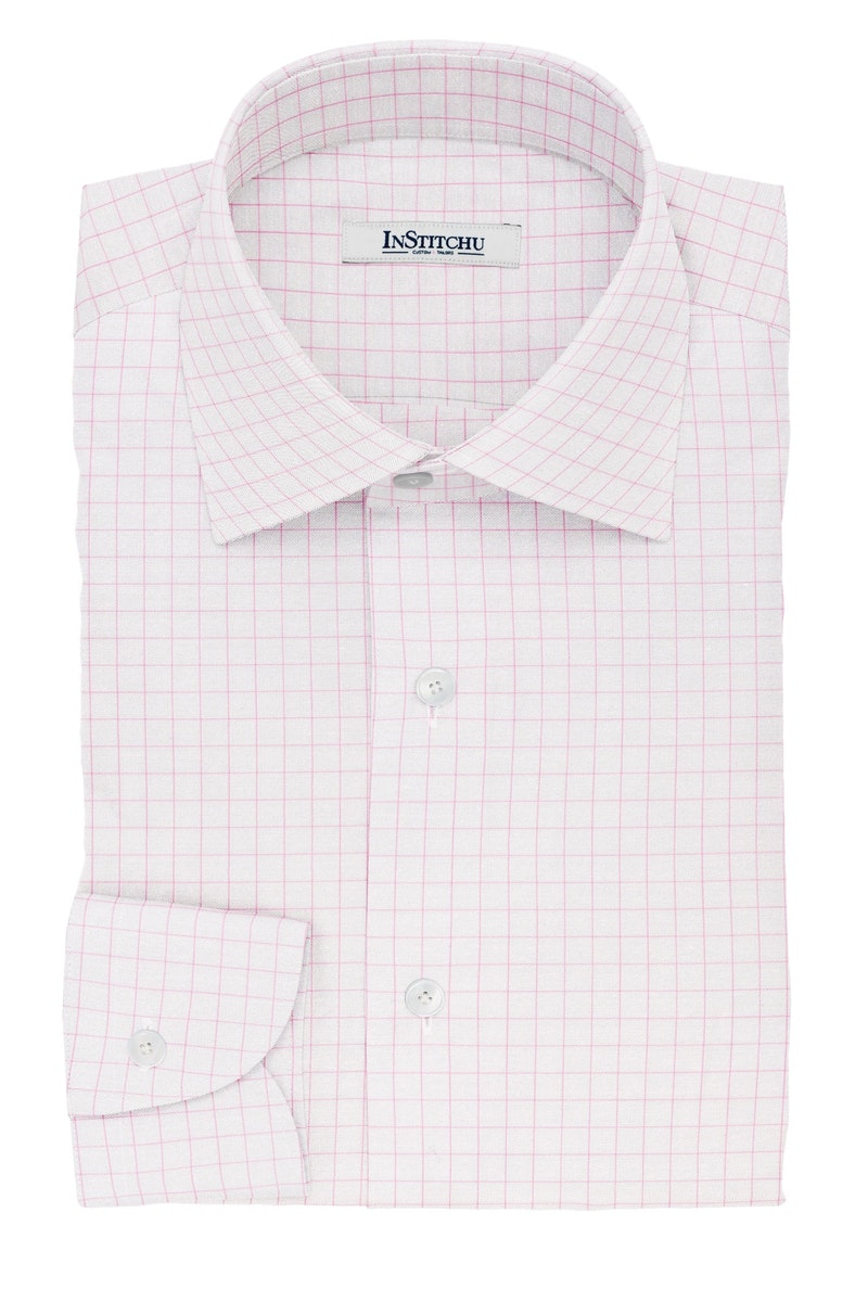 InStitchu Collection The Wilde Pink Windowpane Cotton Shirt