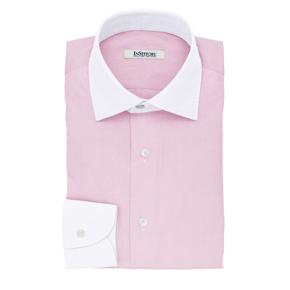 InStitchu Collection The Wildman Textured Cotton Banker Shirt