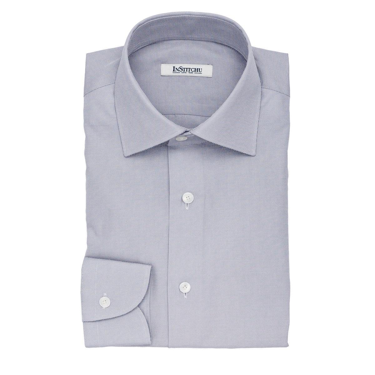 InStitchu Collection The Wilson Grey Pincheck Cotton Shirt