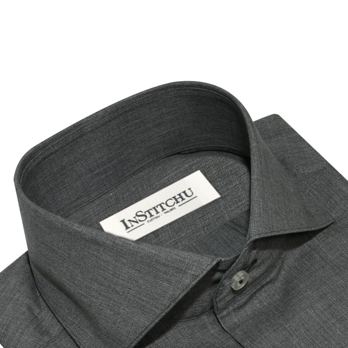 InStitchu Collection The Winthrop Grey Linen Shirt