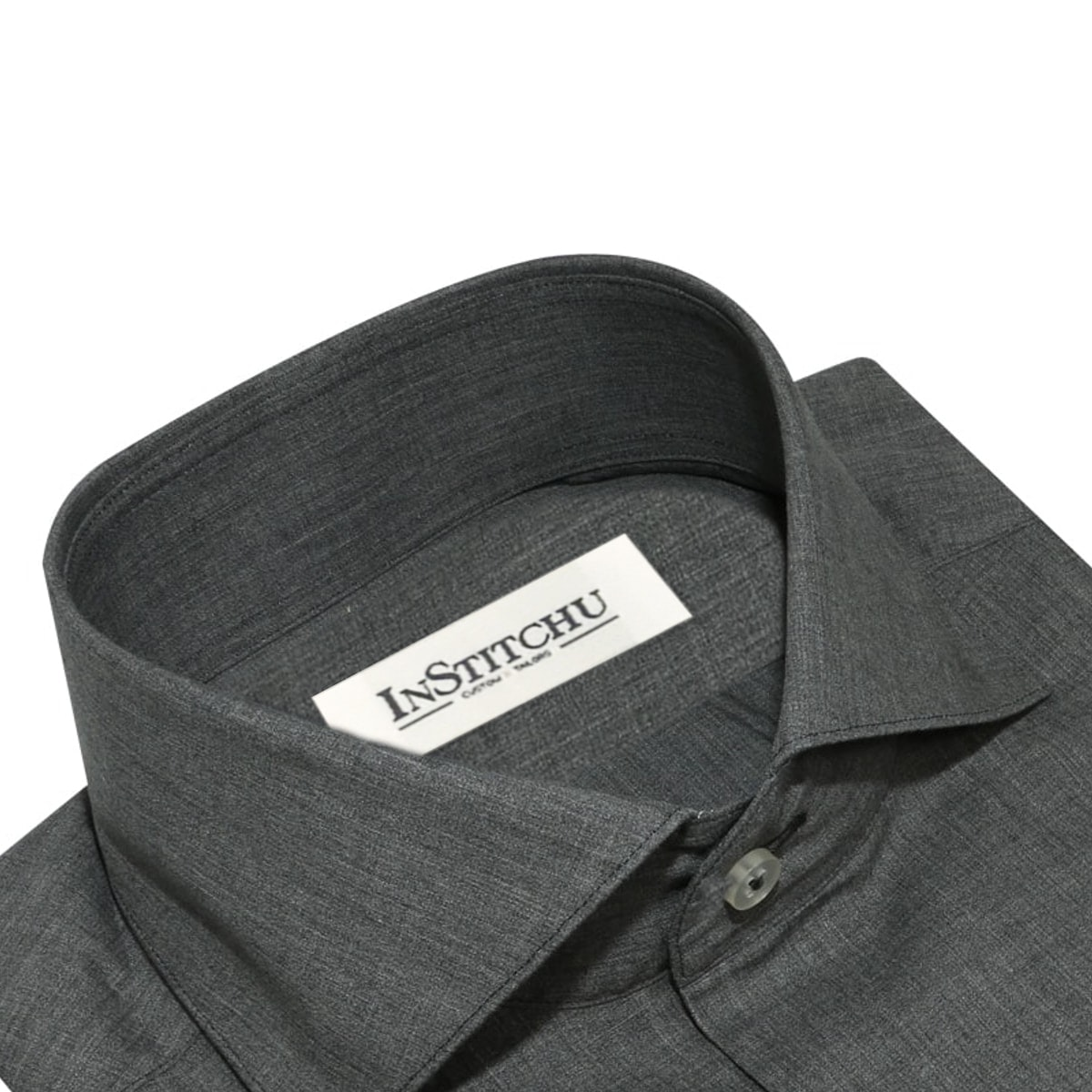 InStitchu Collection The Winthrop Grey Linen Shirt