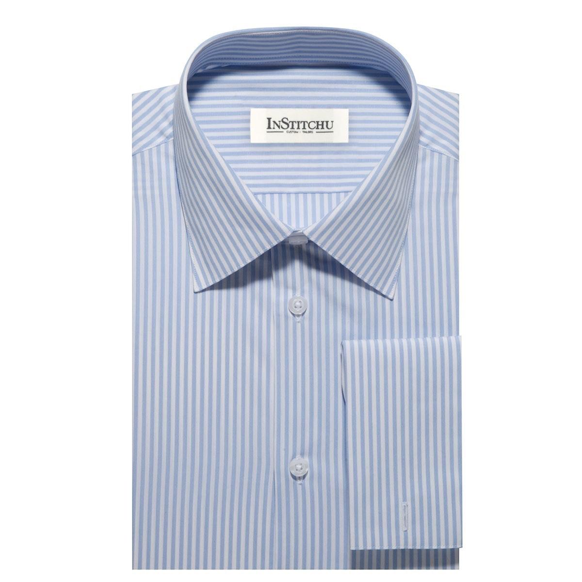 InStitchu Collection The Yaupon Blue Stripe Shirt