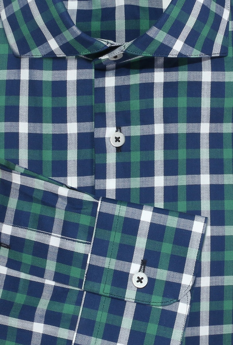 InStitchu Collection Willetton Green Check Shirt