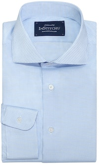 InStitchu Collection Woodridge Blue Wrinke Free Check Shirt