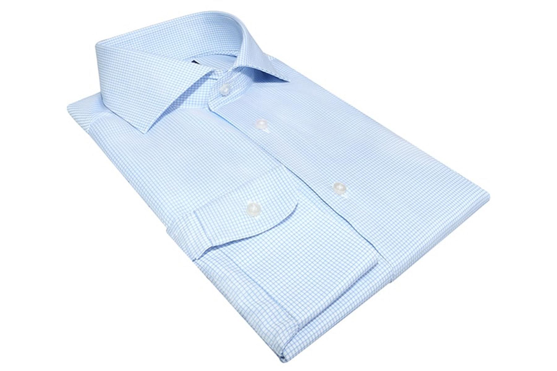 InStitchu Collection Woodridge Blue Wrinke Free Check Shirt