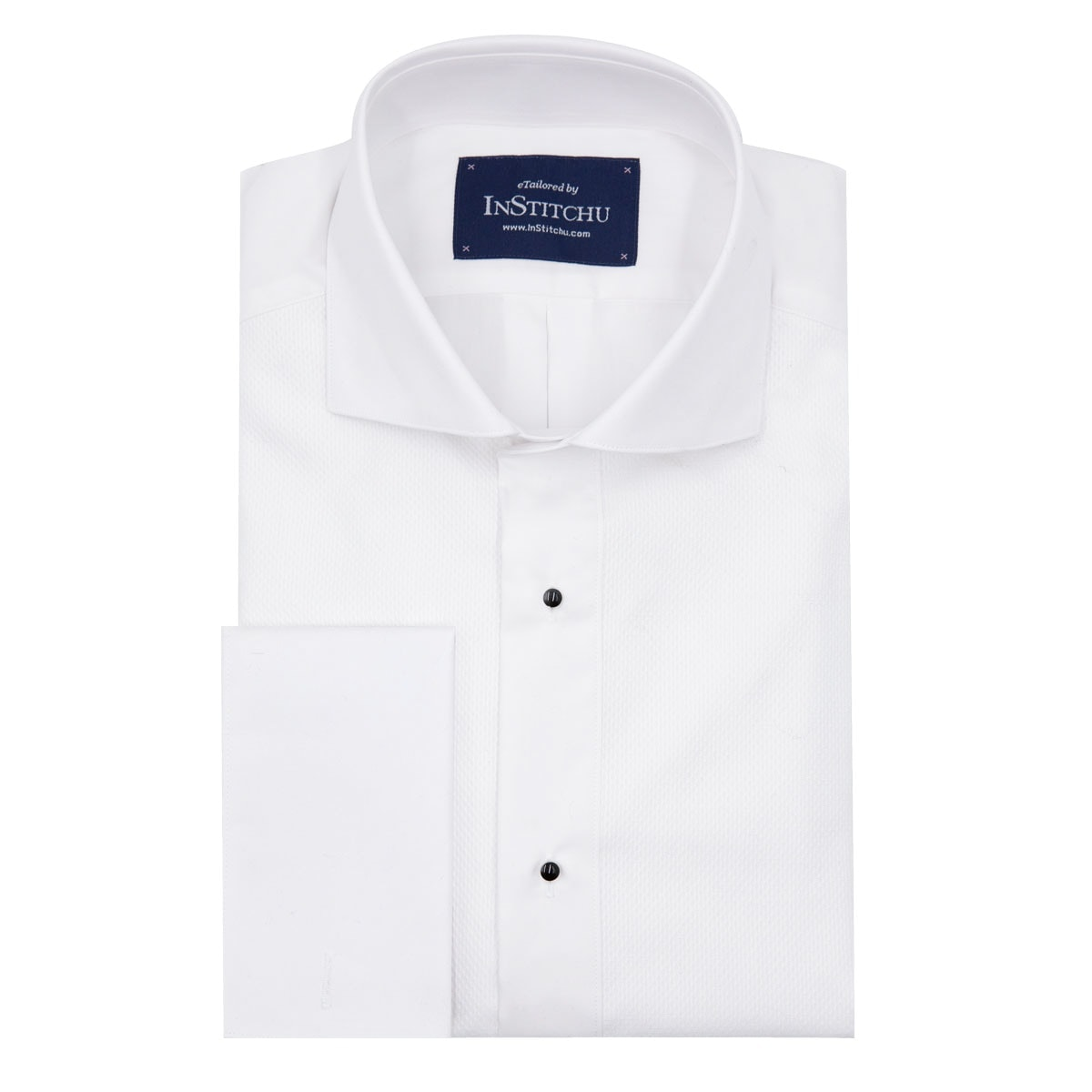 InStitchu Collection Wrinkle Free Pique Tuxedo Shirt