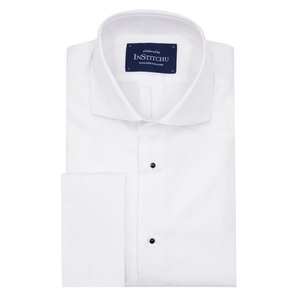 InStitchu Collection Wrinkle Free Pique Tuxedo Shirt