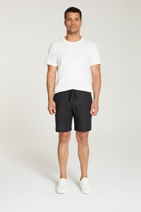 InStitchu Collection The Atrani Black Linen Shorts