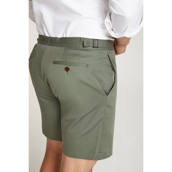 InStitchu Collection The Ravello Olive Green Cotton Shorts
